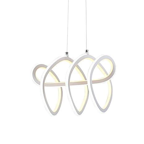 Y.T Lámpara Creativa Colgante de Moda Led Restaurante luz de ...