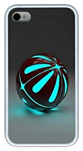 3D ball TPU White Case for iphone 4S/4