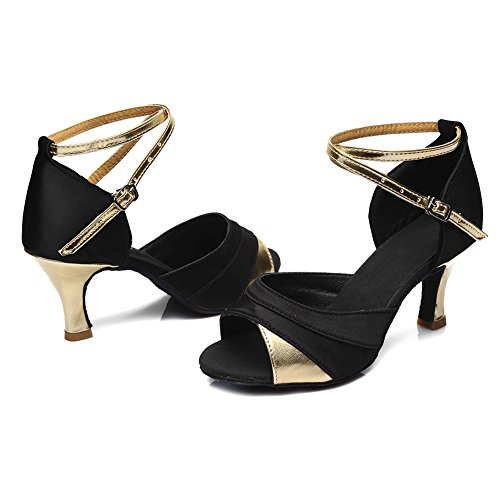 Latino de Mujer HROYL Zapatos Sat Baile fPzIUqw