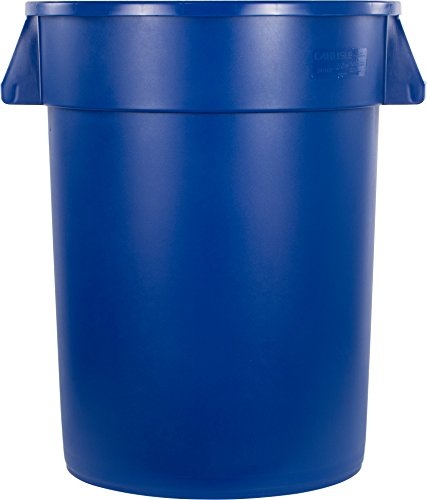 Carlisle 34103214 Bronco Round Waste Container Only, 32 Gallon, Blue by Carlisle (Image #2)