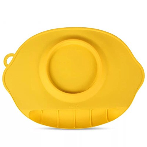 Astra Gourmet Silicone Placemat and Tray Bowl for Babies, Anti-Spill Strong Suction to Table, Molded