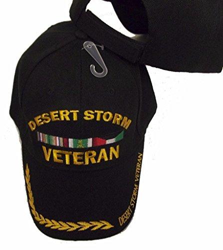 DESERT STORM WAR VETERAN BLACK BASEBALL EMBROIDERED Milit...
