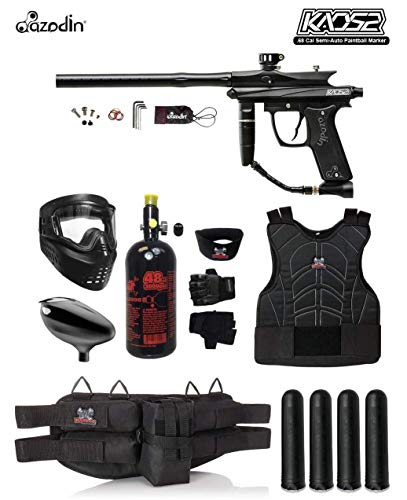 MAddog Azodin KAOS 2 Starter Protective HPA Paintball Gun Package - Black