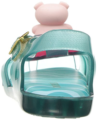 Mini Melissa Girls' Mini Aranha Xi Ballet Flat, Turquoise/Clear, 7 M US Toddler - Image 2