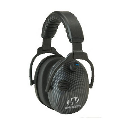 Walkers Game Ear GWP-AMCARB Alpha Power Muffs with 5x Enhanc