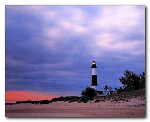 Landscape Wall Decor Big Sable Point Lighthouse at Michigan Art Print Poster (16x20) (Big Sable Lighthouse)