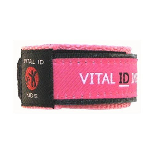 Vital ID Child Safety Wristband (Medical Id Band)