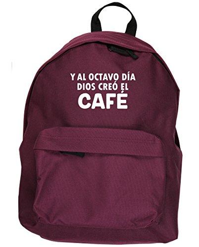HippoWarehouse Y Al Octavo Día Dios Creó El Café kit mochila Dimensiones: 31 x 42 x 21 cm Capacidad: 18 litros Granate
