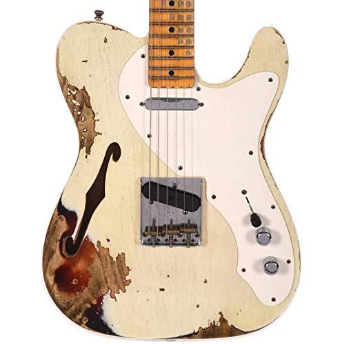 Fender Custom Shop 2018 NAMM Limited '50s Custom Telecaster Thinline MN Aged Olympic White over 3-Tone ()