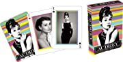 What's better than 1 image of Audrey Hepburn, try 52 and that's just what you'll get in this deck of playing cards that measure 2.5 x 3.5 and have a linen type finish.