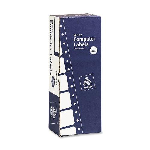 Pack Dot Matrix Printer Labels (Avery Labels for Matrix Printers, Removable, White, 3-1/2