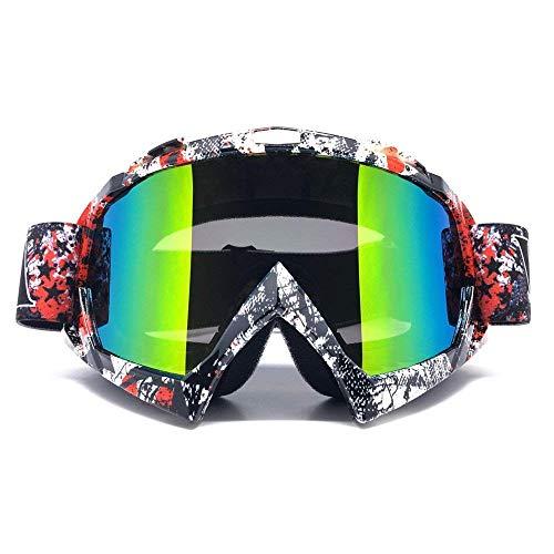 ZDATT Motorcycle Motocross Goggles, Adult ATV Racing Goggles Dirt Bike Goggle Glasses and Ski Snowborading