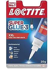 Loctite Super Glue-3 XXL universele lijm, 3 diktes, lijm voor intensief gebruik, onmiddellijke lijm, transparant en extra sterk, 1 x 20 g