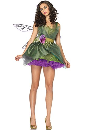 [Leg Avenue Women's Woodland Fairy Costume, Green, Small] (Fairy Halloween Costumes For Adults)