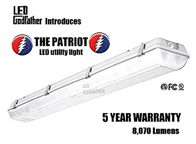 LED Utility Shop Light Garage Light 4' Ft. 66-Watts Instant On 8,070 Lumens. DAYLIGHT WHITE 5000K. SAME DAY SHIPPING IF ORDERED BEFORE 2:00pm CST.