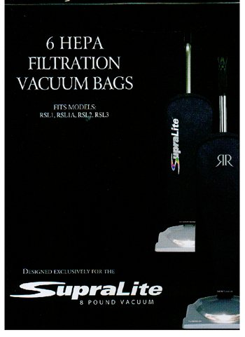 Riccar Vacuum Cleaner HEPA Bags - Type F,6 count