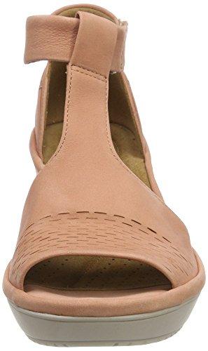 Sandali Peach Donna Arancione Caviglia alla Clarks Wynnmere Avah Nubuck con Cinturino ExzAZRqw