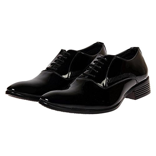 1c4abcdcd01aa XE Looks Men's Patent Leather Lace-up Corporate Casuals, Formal Shoes,  Office Shoes (6-11)