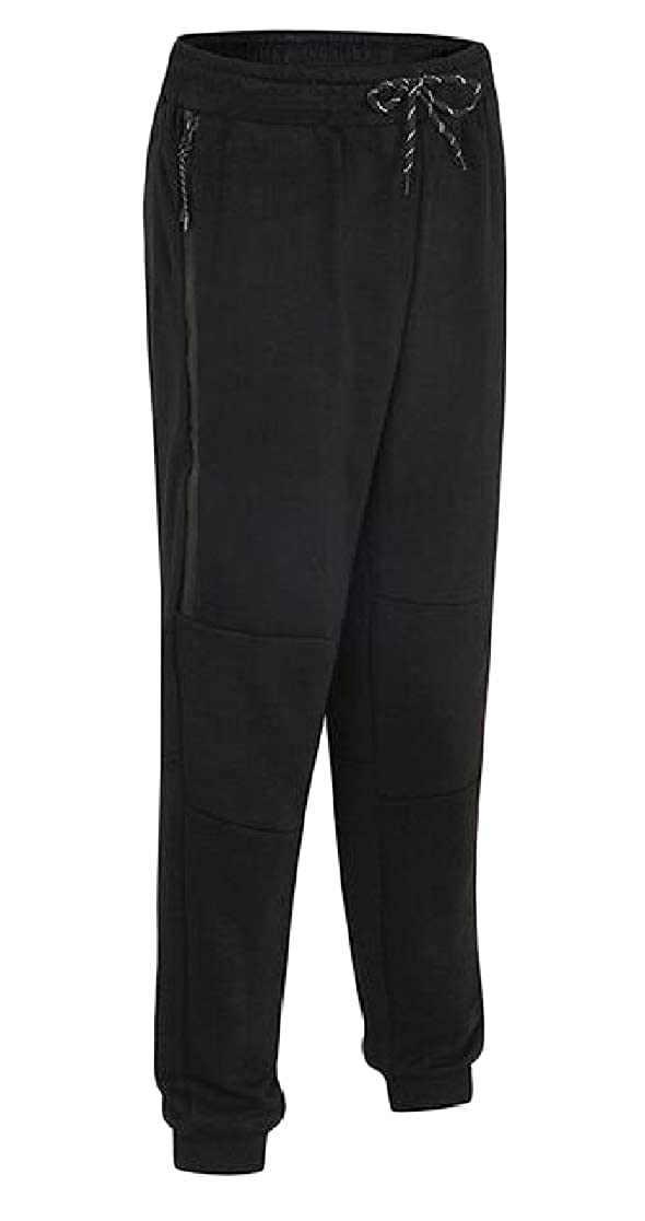 Joe Wenko Men Active Elastic-Waist Drawstring Harem Casual Running Jogging Pants
