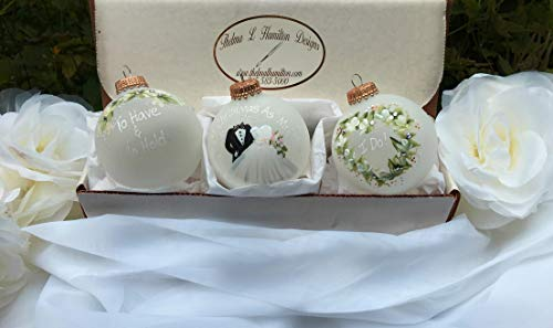 Wedding Gift Ornament Set for the Bride and Groom