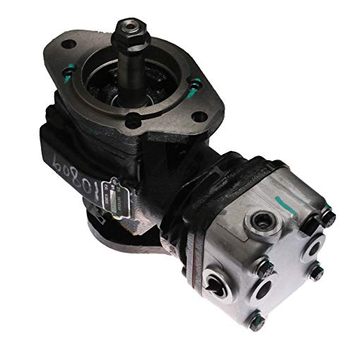 SINOCMP Air Compressor Pump 3974548 A3974548 Air Compressor New Air Conditioning Compressor AC Compressor Clutch Assy for Cummins 210/160 6BT 5.9L Engine, 3 Month Warranty: