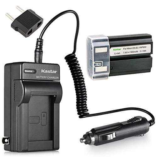 (Kastar EN-EL1 Battery (1-Pack) and Charger Kit for Nikon ENEL1, Minota NP-800 and Nikon Cooipix 4300 4500 4800 5400 5700 775 8700 880 885 995 CoolpixE880 and Konica Minota DG-5W Dimage A200 Cameras)