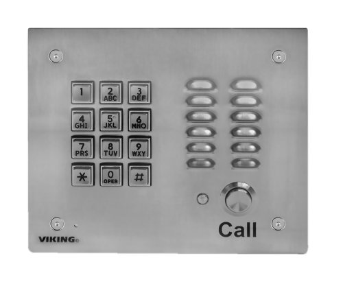 Viking Electronics Handsfree Phone w/ Key Pad - Stainless