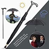 Wrzbest 2-in-1 Walking Sticks Umbrella - Windbreak