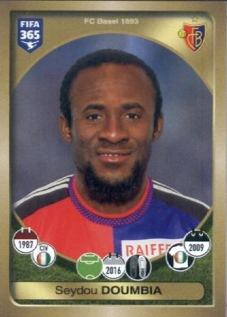 fan products of 2016-17 Panini FIFA 365 #229 Seydou Doumbia FC Basel 1893 Soccer Sticker