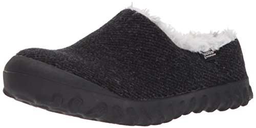BOGS Women's BMOC Slip ON Wool Snow Boot, Black, 9 M US