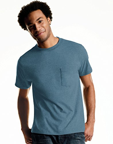 Hanes Men`s TAGLESS ComfortSoft Dyed Crewneck Pocket T-Shirt