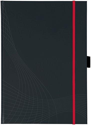 Avery Zweckform 7029 Notizbuch notizio (A4, Hardcover, gebunden, kariert, 90 g/m²) 80 Blatt, dunkelgrau