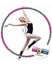 Sporthoelahoepel voor volwassenen, 95 cm, verstelbaar in 8 afneembaar, stabiel roestvrij staal met AAA-schuim, massage fit hoelahoep voor meisjes, dames en heren