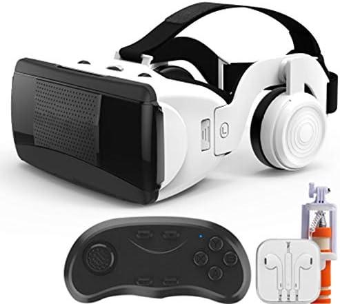 バーチャルリアリティのメガネ3D,スマートメガネ3Dゲームバーチャルヘッドマウント多機能ボタン隠しマイク。,White,Package7