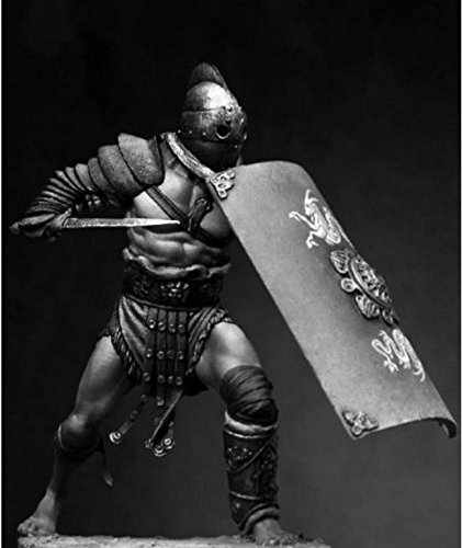 Tin Figures Historical Gladiator Secutor with Shield and Sword 75MM FI24 from Tin Figures