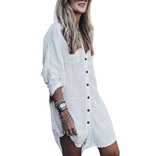 - Qin.Orianna Women's Baggy Swimwear Bikini Cover-ups/Beach Dress/Night T-Shirt