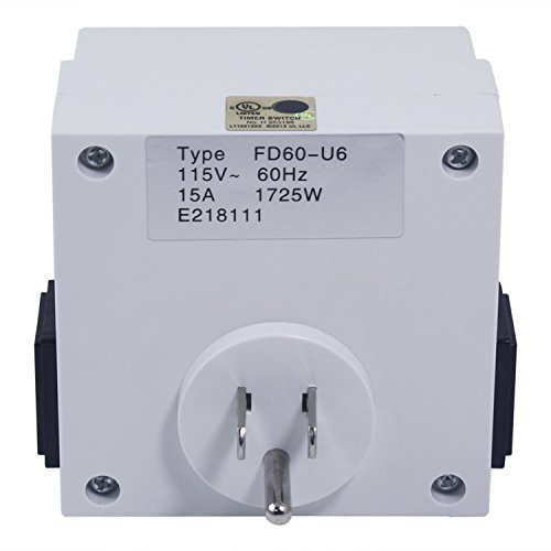 Urban Farmer Weekly 7 Day Programmable Dual Outlet Digital Timer