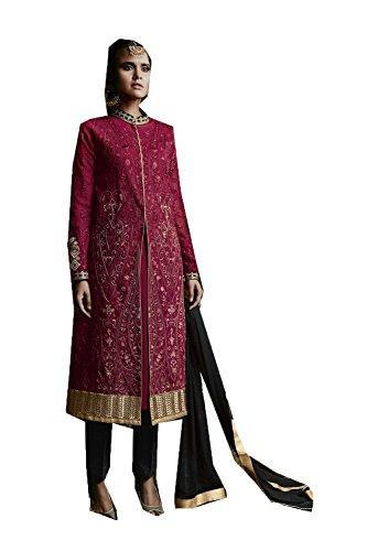 Indian Women Designer Partywear Ethnic Traditonal Maroon Salwar Kameez. by The Stylam