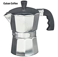 This IMUSA Aluminum Coffeemaker has the classic style your looking for in a stove top espresso maker, with the quality of a IMUSA brand product. IMUSA has been producing coffeemakers for over fifty years and is considered one of the top manuf...