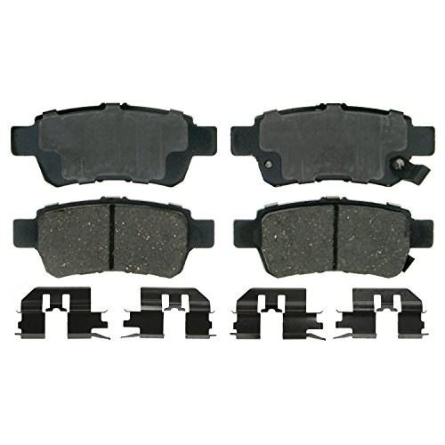 Wagner QuickStop ZD1088 Ceramic Disc Pad Set Includes Pad Installation Hardware, Rear (Honda Odyssey Rear Brake)