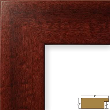 Craig Frames 74039 24 by 36-Inch Picture Frame, Smooth Wrap Finish, 2-Inch Wide, Mahogany Red