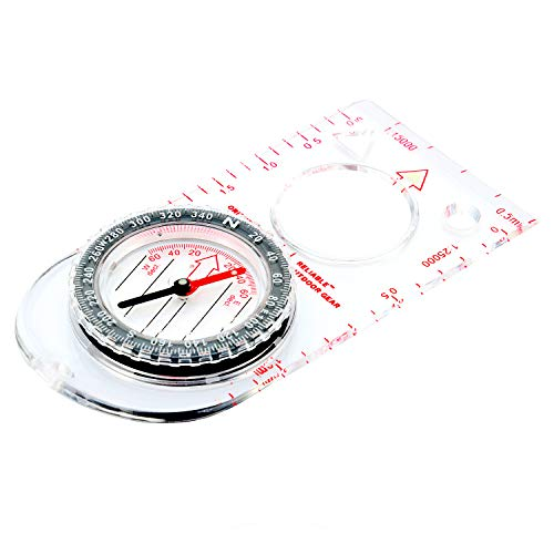 Reliable Outdoor Gear Boy Scout Compass - Liquid Filled, Rotating Bezel, Magnetic Heading - for Navigation, Orienteering and Survival