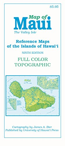 Map of Maui: The Valley Isle, 9th edition (Reference Maps of the Islands of Hawai'i)