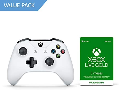 Microsoft - Mando Inalámbrico, Blanco (PC, Xbox One S) + 3 Meses ...