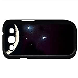 Crescent moon - Watercolor style - Case Cover For Samsung Galaxy S3 i9300 (Black)