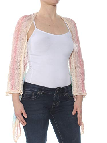 Missoni $865 Womens New 1736 Pink Striped Open Cardigan 3/4 Sleeve Sweater S B+B
