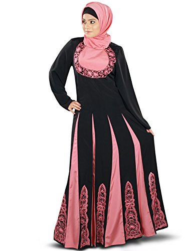 Yoke am amp; mit gesticktem Panels MyBatua Abaya Frauen Anarkali Designer W1xZ0qa0f