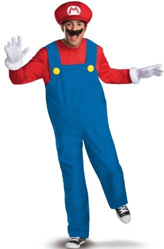Boys Super Mario Costume (Disguise Costumes Mario Deluxe Costume, Adult, Medium (38-40)