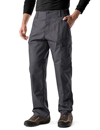 CQR CQ-UBP01-CHC_XL/Regular Men's BDU Rip Stop Trouser EDC Tactical Combat Pants (6 Pocket Bdu Cargo Pants)