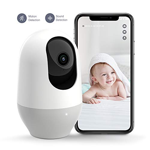 [New Version] Nooie Baby Monitor, WiFi Camera 1080P, Pet Camera,360-degree Wireless IP Camera,Home Security Camera, Motion Tracking, Super IR Night Vision, Two-Way Audio, Motion & Sound Detection